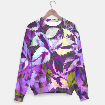 Thumbnail image of More Lovely Leaves, Purple Shades Sweater, Live Heroes