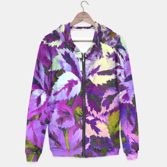 Thumbnail image of More Lovely Leaves, Purple Shades Hoodie, Live Heroes
