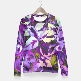 Thumbnail image of More Lovely Leaves, Purple Shades Fitted Waist Sweater, Live Heroes