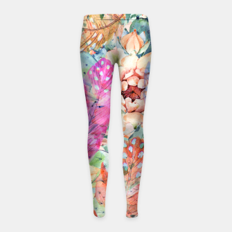 Thumbnail image of floral girls leggings, Live Heroes
