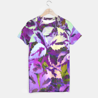 Thumbnail image of More Lovely Leaves, Purple Shades T-shirt, Live Heroes