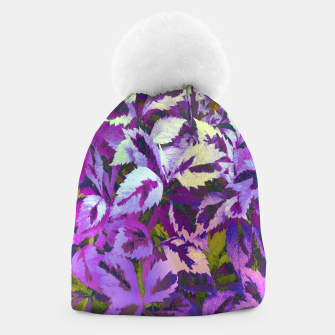 Thumbnail image of More Lovely Leaves, Purple Shades Beanie, Live Heroes