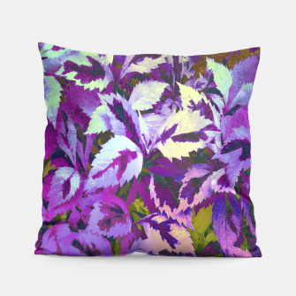Thumbnail image of More Lovely Leaves, Purple Shades Pillow, Live Heroes