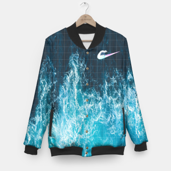 OCEAN WAVES Baseball Jacket obraz miniatury