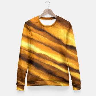 Thumbnail image of Soft, Amber Strands Fitted Waist Sweater, Live Heroes