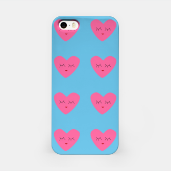 Thumbnail image of Valentines Heart Blue iPhone Case, Live Heroes