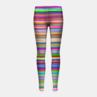 Thumbnail image of Luminous Waves Girl's Leggings, Live Heroes