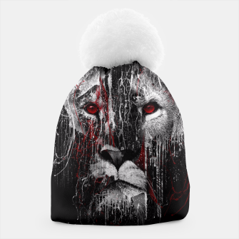 Thumbnail image of LION - RED EYE Beanie, Live Heroes