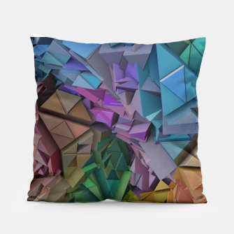Miniatur Colorful Abstract Geometric 3d Low Poly Blocks Pillow, Live Heroes