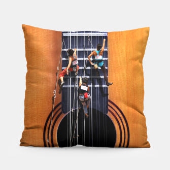 Miniature de image de Surreal Guitar Climbers Pillow, Live Heroes