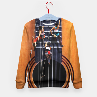 Miniature de image de Surreal Guitar Climbers Kid's Sweater, Live Heroes