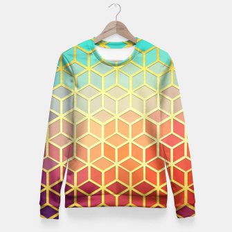 Golden Pattern Gold Fitted Waist Sweater thumbnail image