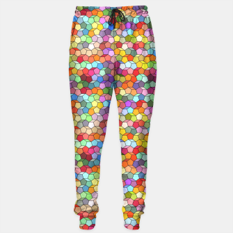 Miniatur Colorful Geometric Polygon Pattern Sweatpants, Live Heroes