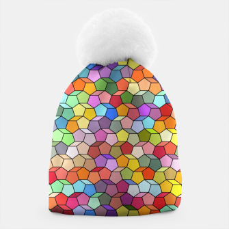Miniatur Colorful Geometric Polygon Pattern Beanie, Live Heroes