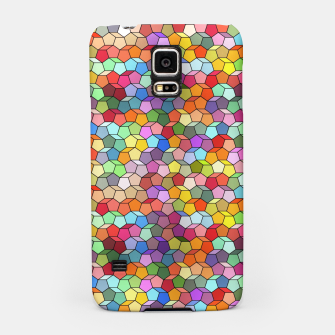 Miniatur Colorful Geometric Polygon Pattern Samsung Case, Live Heroes
