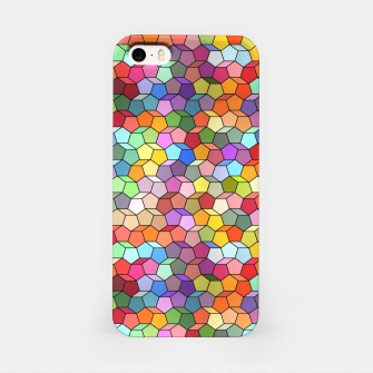 Miniatur Colorful Geometric Polygon Pattern iPhone Case, Live Heroes