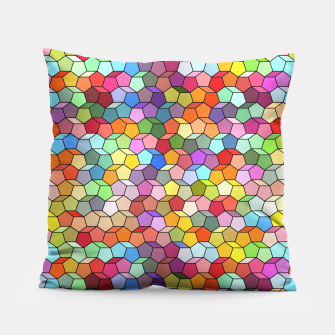Miniatur Colorful Geometric Polygon Pattern Pillow, Live Heroes
