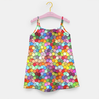 Miniatur Colorful Geometric Polygon Pattern Girl's Dress, Live Heroes