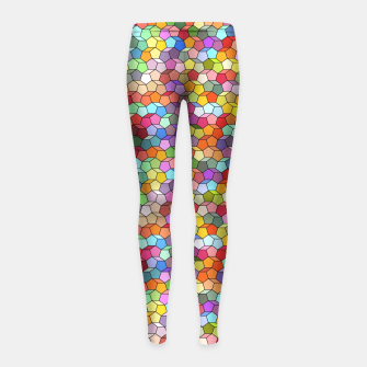 Miniatur Colorful Geometric Polygon Pattern Girl's Leggings, Live Heroes