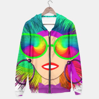 Thumbnail image of Hippy Trippy Rainbow Chick Hoodie, Live Heroes