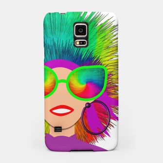Thumbnail image of Hippy Trippy Rainbow Chick Samsung Case, Live Heroes