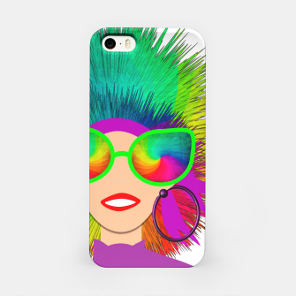 Thumbnail image of Hippy Trippy Rainbow Chick iPhone Case, Live Heroes