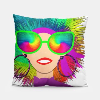 Thumbnail image of Hippy Trippy Rainbow Chick Pillow, Live Heroes