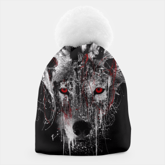 Thumbnail image of WOLF - RED EYE Beanie, Live Heroes