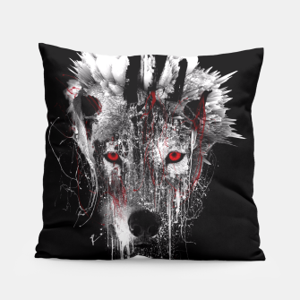 Thumbnail image of WOLF - RED EYE Pillow, Live Heroes