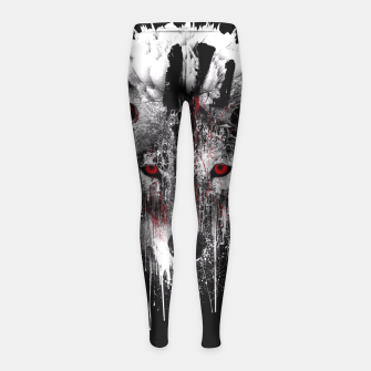 Thumbnail image of WOLF - RED EYE Girl's Leggings, Live Heroes