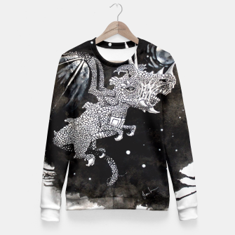 Thumbnail image of Moon dragon Fitted Waist Sweater, Live Heroes