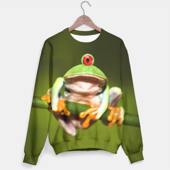 Miniatur Funny Conceptual Cyclopic Frog Sweater, Live Heroes