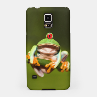 Miniatur Funny Conceptual Cyclopic Frog Samsung Case, Live Heroes