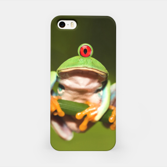 Miniatur Funny Conceptual Cyclopic Frog iPhone Case, Live Heroes