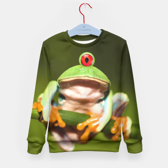Miniatur Funny Conceptual Cyclopic Frog Kid's Sweater, Live Heroes