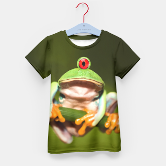 Miniatur Funny Conceptual Cyclopic Frog Kid's T-shirt, Live Heroes