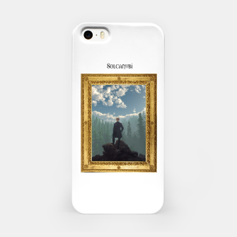 Miniatur Wanderer above the Sea of Cubes iPhone Case, Live Heroes