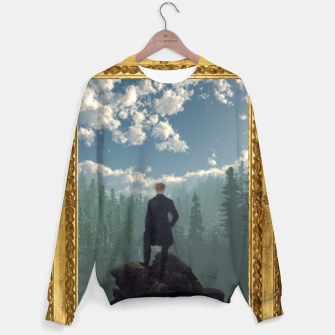 Miniatur Wanderer above the Sea of Cubes Full Sweater, Live Heroes