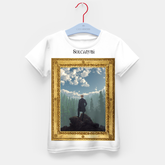 Miniatur Wanderer above the Sea of Cubes Kid's T-shirt, Live Heroes