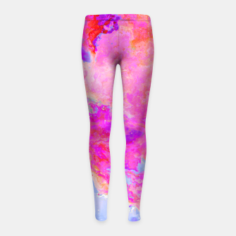 Thumbnail image of Rose Nebula Girl's Leggings, Live Heroes
