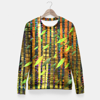 Thumbnail image of Green Jungle Breeze Fitted Waist Sweater, Live Heroes