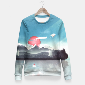 Thumbnail image of Fortuna's Message Taillierte Sweatshirt, Live Heroes