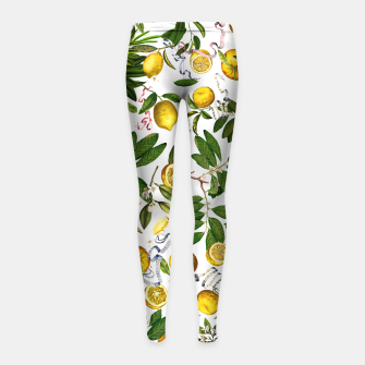 Thumbnail image of Lemon Tree white kids Leggings, Live Heroes