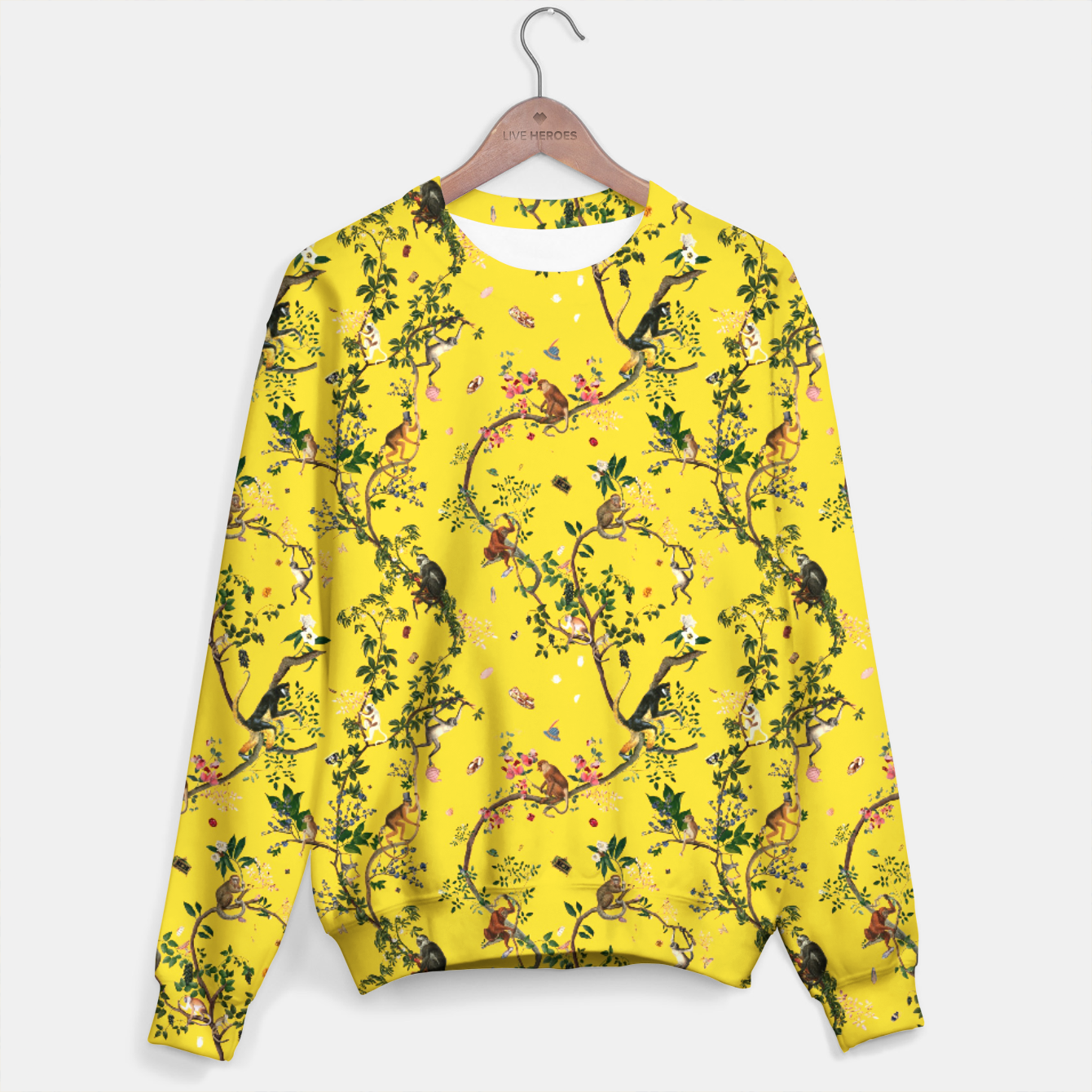 Image of Monkey World yellow Sweater - Live Heroes
