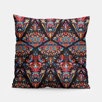 Miniatur Floral pattern. Geometric pattern - Bright colorful tradition  Pillow, Live Heroes