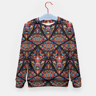 Miniatur Floral pattern. Geometric pattern - Bright colorful tradition  Kid's Sweater, Live Heroes