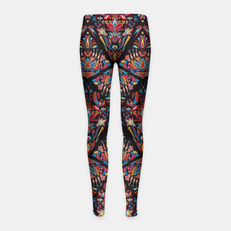 Miniatur Floral pattern. Geometric pattern - Bright colorful tradition  Girl's Leggings, Live Heroes