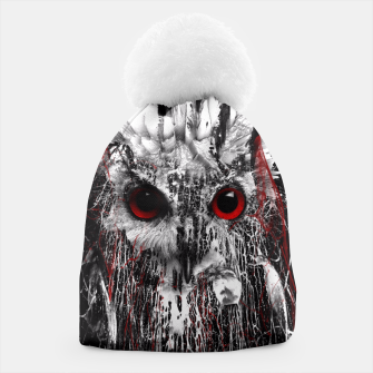 Thumbnail image of OWL - RED EYE Beanie, Live Heroes