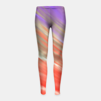 Thumbnail image of Crimson Aurora Girl's Leggings, Live Heroes