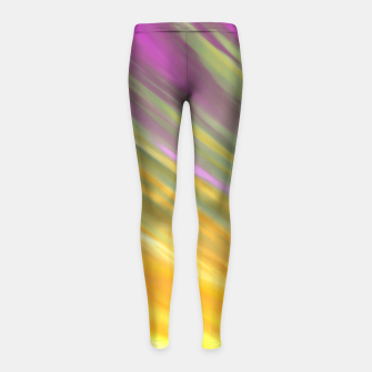 Thumbnail image of Golden Aurora Girl's Leggings, Live Heroes